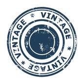 Blue vintage stamp — Stock Photo