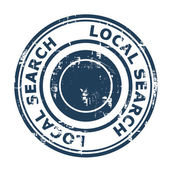 Local search SEO concept stamp — Stock Photo