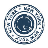 New York travel stamp — Stock Photo