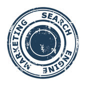 Search Engine Marketing concept stamp — 图库照片