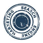搜索引擎营销概念邮票 — 图库照片