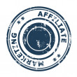 Photo: Affiliate marketing concept stamp