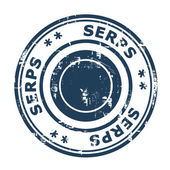 SERPS concept stamp — Stock Photo