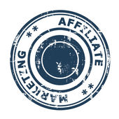 Affiliate marketing concept stamp — Stock Photo