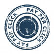 Pay Per Click SEO concept stamp — Stock Photo