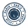 Paris travel stamp — Foto Stock