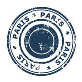 Paris travel stamp — Stock Photo