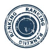 Ranking SEO concept stamp — Stock Photo