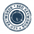 SEO keywords concept stamp — Stock Photo #24709189