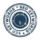 SEO keywords concept stamp — Stock Photo