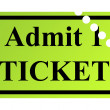 Stock Photo: Admit one ticket