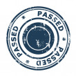 Passed concept stamp — Stock Photo