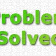 Problem solved background — Stock Photo