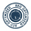 SEO Optimized concept stamp — Stock Photo #26227899