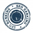 SEO ranking concept stamp — Stock Photo