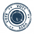 Vote concept stamp — Stock Photo