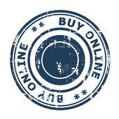 Buy online concept stamp — Stock Photo
