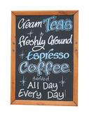 Cafe cream teas sign — Stock Photo