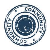 Community stamp — Stock Photo