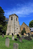 English church and cemetery — Stock Photo