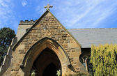Exterior of old stone church — Stock Photo