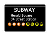 Herald Square subway sign — Stock Photo