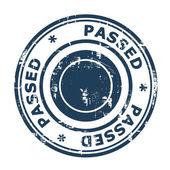 Passed concept stamp — Stock Photo