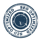 SEO Optimized concept stamp — Stock Photo