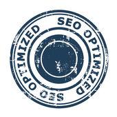 SEO Optimized concept stamp — Stock Photo