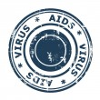 AIDS virus Stamp — Stock Photo