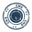 CMS business stamp — Stock Photo #27175693
