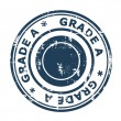 Grade A concept stamp — Stock Photo