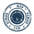 HIV virus Stamp — Stock Photo