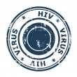HIV virus Stamp — Foto Stock #27177643