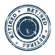 Retired concept stamp — Stock Photo
