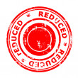 Reduced concept stamp — Stock Photo