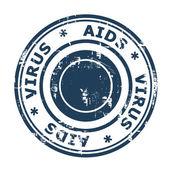 AIDS virus Stamp — Stock Photo