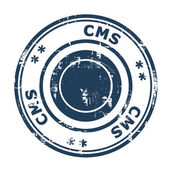 CMS business stamp — Stock Photo