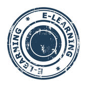 E-Learning concept stamp — Stock Photo