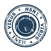 H5N1 Virus Stamp — Stock Photo