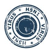 H5N1 Virus Stamp — Stock Photo