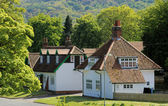 Casas em vila inglesa — Foto Stock