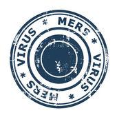 Timbro virus mers — Foto Stock