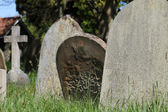 Old graves in English cemetery — ストック写真
