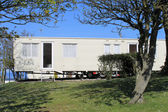 Static caravan on trailer park — Stockfoto