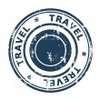Travel concept stamp — Stock Photo