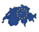 スイス連邦共和国のヨーロッパの旗地図 — ストック写真