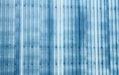 Blå korrugerade metall bakgrund — Stockfoto