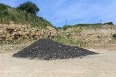 Pile of coal in quarry — Stock Photo