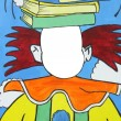 Abstract clown background — Stock Photo